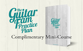 Learn how to create your very own personalized guitar practice routine with the complimentary Guitar Fam Practice Plan mini-course.