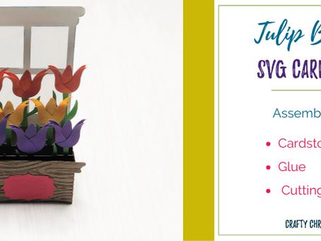 Tulip Box Card SVG