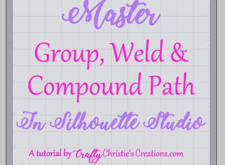 Master Group, Weld and Compound Path in Silhouette Studio