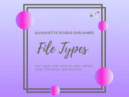 File Types and Silhouette Studio Editions Explained!