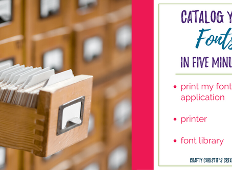 how to catalog your fonts in 5 minutes