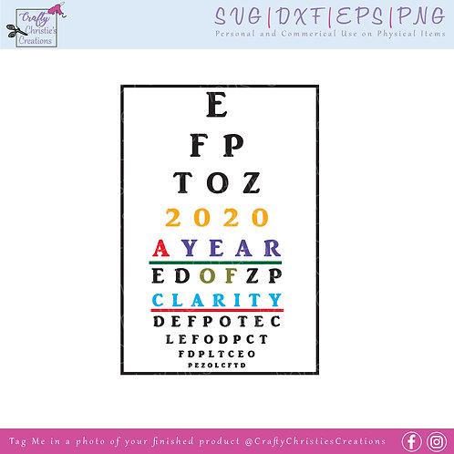 New Years 2020 Eye Chart