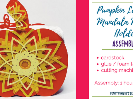 Pumpkin Layered Mandala Napkin holder