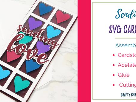 Sending Love Slimline Card