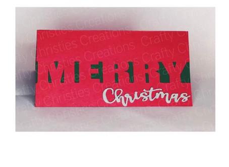 Silhouette Studio DXF File Tutorial - Merry Christmas Card