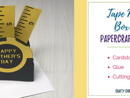 Tape Measure Box Card SVG