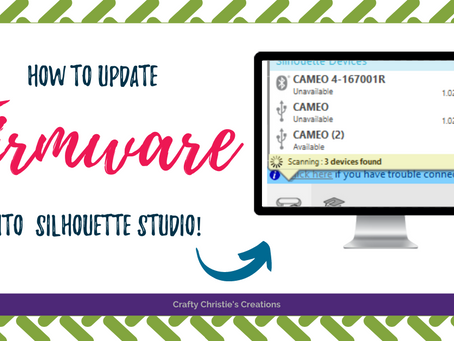 updating firmware in Silhouette studio