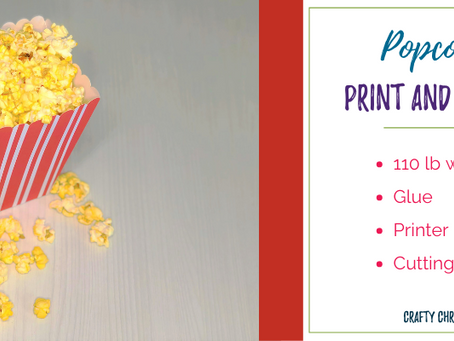 Popcorn box print and cut