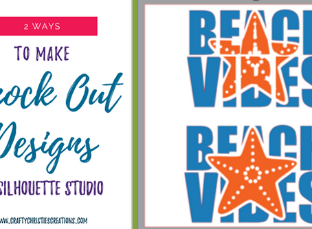 how to make a knockout design in silhouette studio