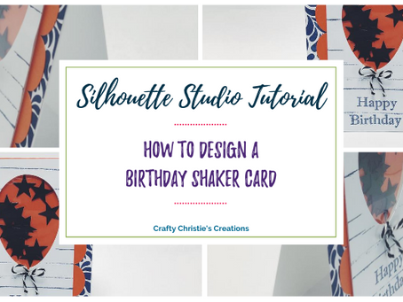 How to Design a birthday shaker card in silhouette studio