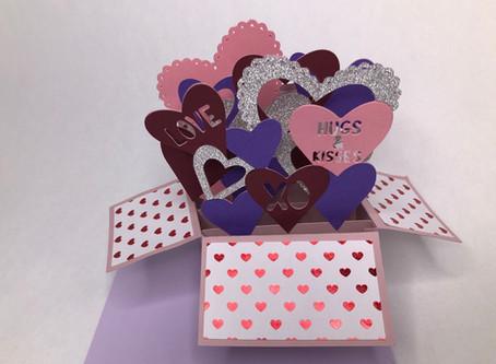 Heart Pop Up Box Card SVG