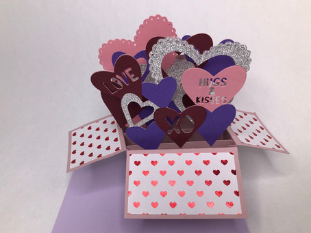 Heart Pop Up Box Card SVG