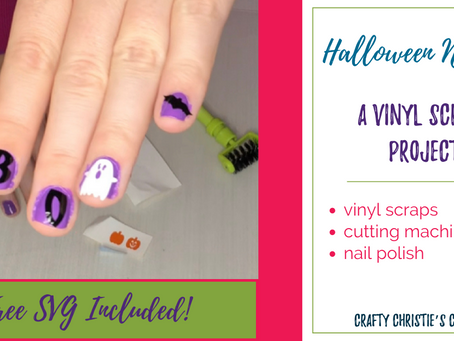 How to make Nail Art out of vinyl scraps