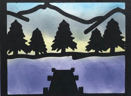 Outdoor Scene SVG Card