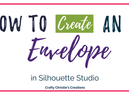how to create an envelope in silhouette studio