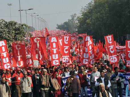 Union Strikers in India Demand Reform for Workers