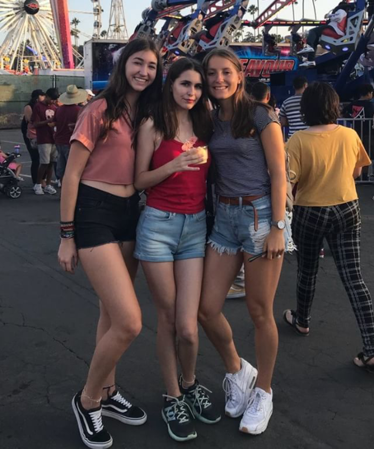 L to R: Rodrigues, Moder, and Lambrecht pose for a group photo at LA County Fair