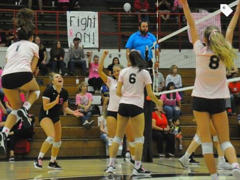 In October Volleyball Digs Pink for Breast Cancer