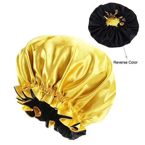 INFANT SATIN BONNET YELLOW