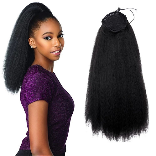 """22"""" LONG SYNTHETIC KINKY STRAIGHT PONYTAIL"""