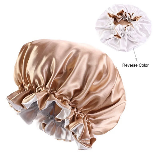 INFANT SATIN BONNET GOLD