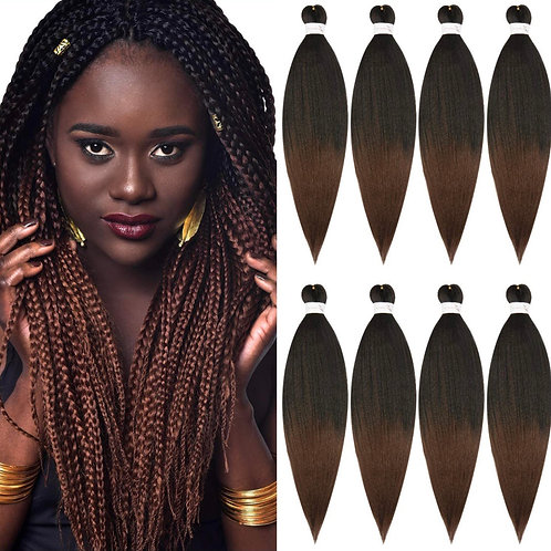 #1B/30 PRE-STRETCHED KANEKALON EZ BRAIDING HAIR