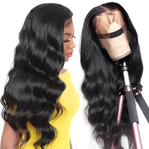 BODY WAVE  TRANSPARENT SWISS LACE FRONT GLUELESS WIG
