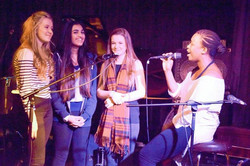 Singing group performance