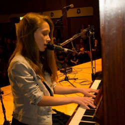 ESM student playing piano