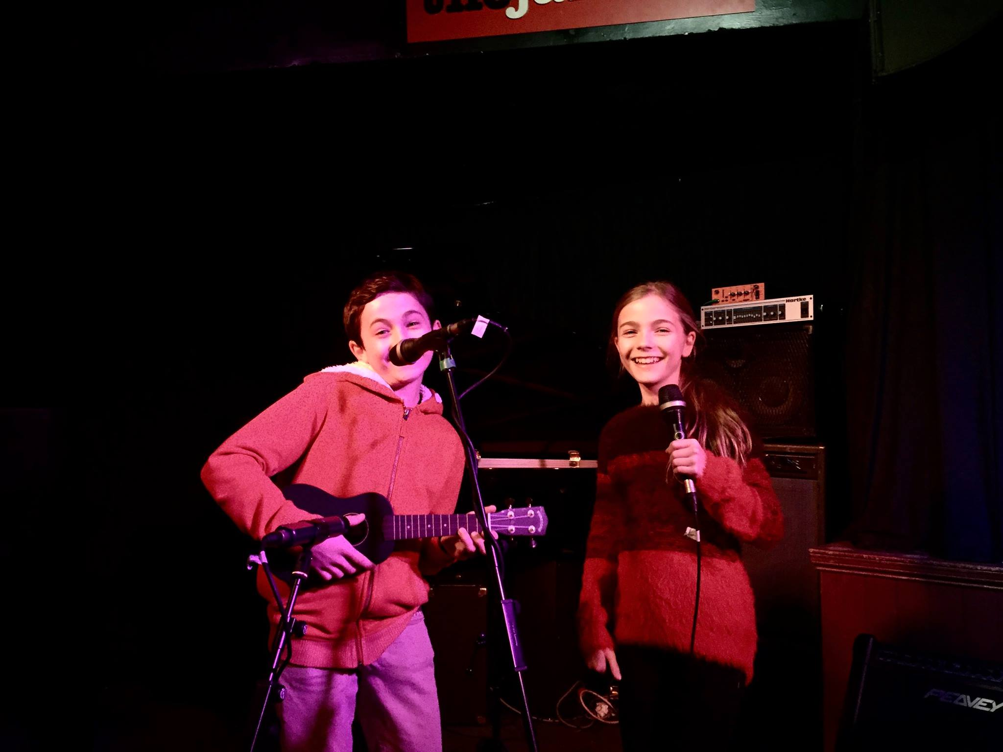 2 students performing at a showcase
