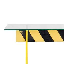 Стол Caution, металл, стекло, индустриальный стиль