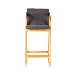 Кресло барное RISE из дуба в скандинавском стиле