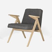 Кресло HOLME в скандинавском стиле из дуба, ретро кресло, деревянное кресло