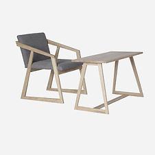 Кресло OREO kids и столик BARNI  из дуба