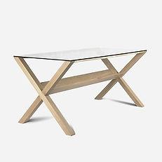 Стол ARCHE из дуба в скандинавском стиле, письменый стол, обеденный стол, деревянный стол