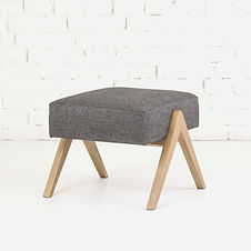 Пуф KULLE для ног, банкетка, пуф для кресла пуф в скандинавском стиле, банкетка из ткани, пуф и кресло