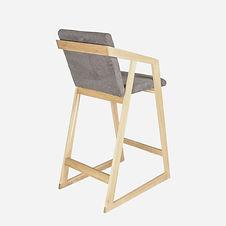 Кресло барное RISE из дуба в скандинавск