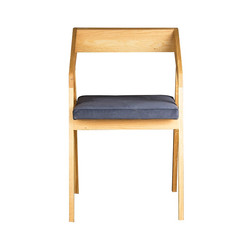 Стул MOHAWK с сиденьем из ткани синего цвета
