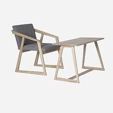 Кресло OREO kids и столик BARNI  из дуба, мебель в скандинаском стиле, деевянный столик, мебель для детской