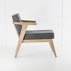 Кресло STAY из дуба в скандинавском стиле, деревянное кресло
