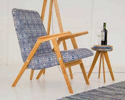 Кресло дизайнерское RONNIE из дерева