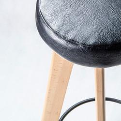 Табурет LATTE барный с подставкой для ног в скандинавском стиле