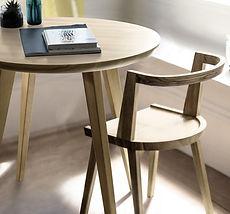 Стол SKIVA в скандинавском стиле, стол круглый из дерева, стол обеденный, мебель для кухни, стол и стулья комплект, деревянный стол, стол из массива дерева, стол с деревянной столешницей, стол для кафе, скандинавский дизайн, стол-лофт