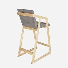 Кресло барное RISE из дуба в скандинавском стиле, кресло из дуба