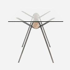 Стол Mr. FOGG из металла, дерева и стекла, стол в индутриальном стиле