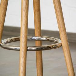 Барный стул MOSS в скандинавском стиле из натурального дерева