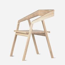 Стул MOHAWK из дуба в скандинавском стиле, деревянный стул, стул для гостиной, стул для кафе