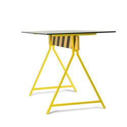 Стол Caution, loft style металл и стекло