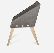 Кресло UNO из дуба в скандинавском стиле, кресло из дерева