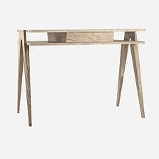 Стол BIPLAN письменный из дуба в скандинавском стиле, деревянный стол, стол